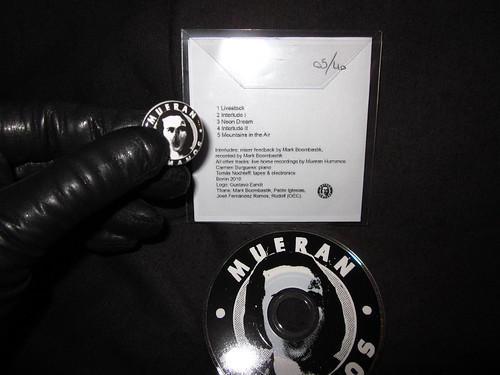 Mini CD back cover and pin - available only inside the boxed/numbered edition by Old Europa Café. Limited to 40
