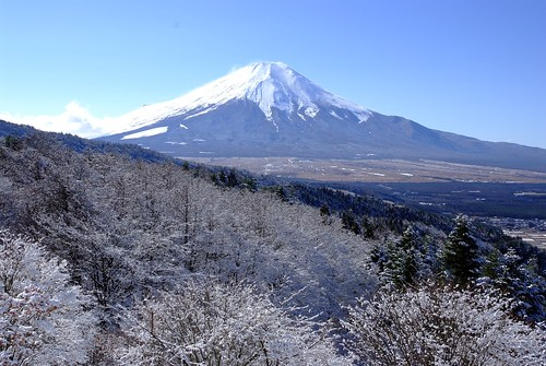 Foot of Mt.Fuji snow scene