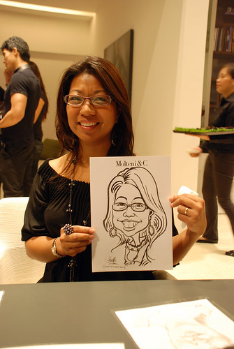 Portrait & Caricature live sketching for Molteni & C - 11