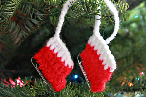 crocheted stockings ornament