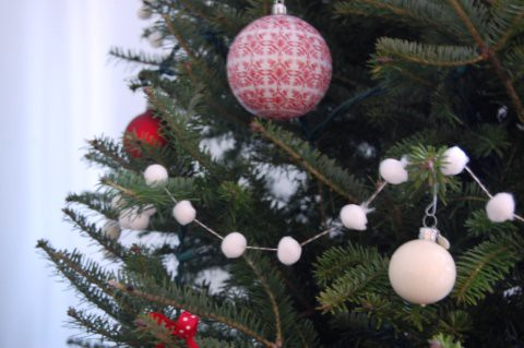 Pom Pom Christmas Garland