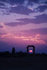 electric sky (Damian Bere) Tags: sun clouds sunrise dawn columns middleeast syria palmyra