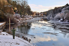 River of ice (geoffspages) Tags: ice river frost ironbridge severn icefloe