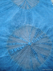 shibori indigo sumac détail