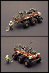 Planetary Explorer (Legohaulic) Tags: steering lego space explorer rover vehicle