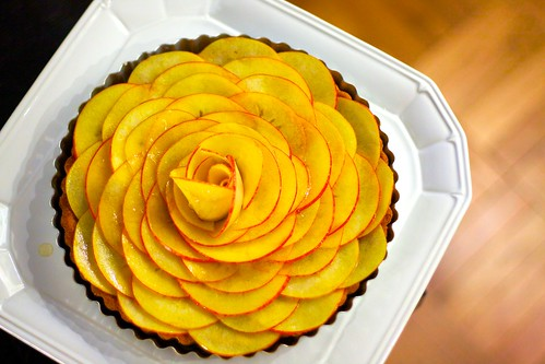 Salted Caramel Apple Rosette Tart