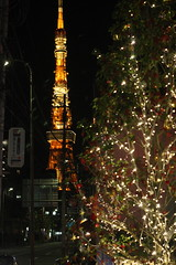 Tokyo Tower Christmas (kevin dooley) Tags: christmas xmas light 3 tree tower night canon 50mm tokyo evening december 14 jp tokyotower nite 2010 christmaslight xmaslight f35 chome azabudai 40d tokyochristmas christmasintokyo tokyotowerchristmas tokyotowerxmas