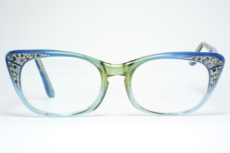 4731f6506da Blue Cat Eye Glasses by Comet (Vintage Cat Eye Glasses) Tags  sunglasses  vintage