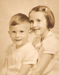 Maxine and Howard about 1935 (Howard33) Tags: pictures family portrait favorite howard lexington kentucky siblings depression neat maxine