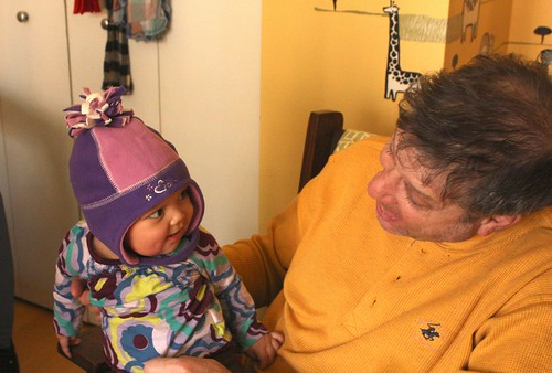 With Zadie in her purple hat