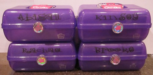 Personalize Caboodles using vinyl or sharpie. Great Christmas gift! www.houseofhepworths.com