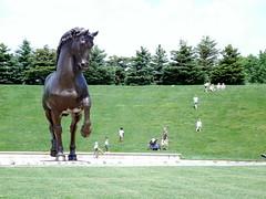 The American Horse (dwgibb) Tags: sculpture garden michigan grandrapids meijer leonardodivinci ninaakamu
