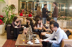 Coffee break (GoldenHelix Symposia) Tags: institute research medicine genetic biomedical genomics symposia genome pharmacogenomics goldenhelix translational patrinosgeorge
