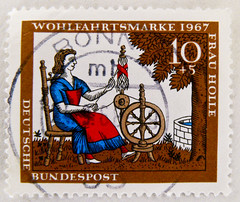stamp Germany 10+5 pf. postage Gebrder Grimm Frau Holle (Mother Hulda) timbre allemagne dame Holle selo alemanha 10+5 Pfennig 1967 francobolli Madama Holle special issue stamp, commemorative issue, mission commmorative (thx for sending stamps :) stampolina) Tags: ladies beautiful fairytale wonderful postes germany deutschland women stamps stamp porto 1967 alemania donne mulheres timbre allemagne postage franco fable germania alemanha femmes perempuan fes mrchen selo dames babae marka brd sagen sellos holle brg kobiety favola fiaba  briefmarke cuentodehadas francobollo senhoras timbres madama timbreposte bollo frg  mapka kadn  grimmbrothers gebrdergrimm    frauholle motherhulda     nk     dyzh postapulu jyu  yupiouzhu gsh grimmbrosgebrgrimm