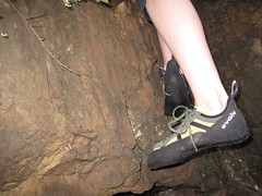I've already tested out my new rock climbing shoes from Drifers Adventure Centre