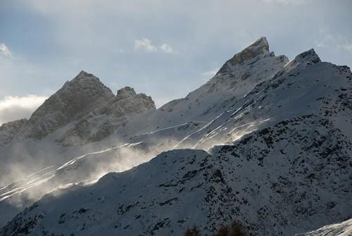 bergspitzen im winter