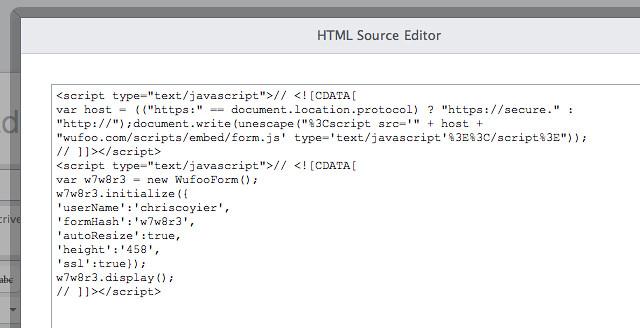 Virb HTML