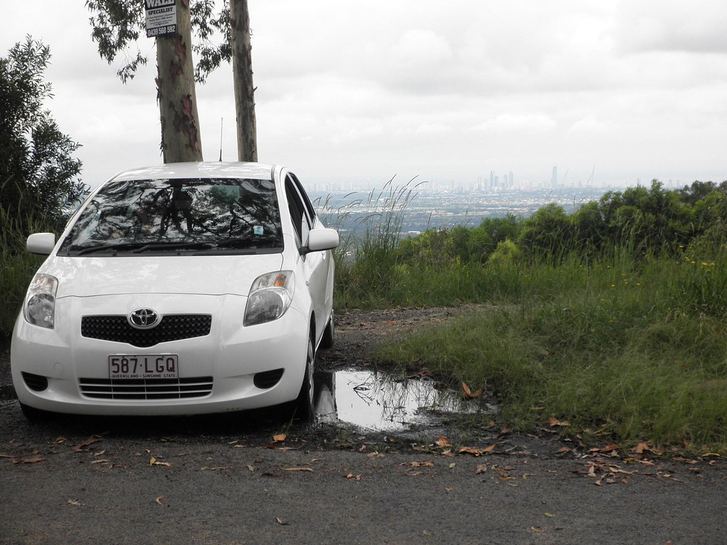 Toyota Yaris With A View Of The Gold Coast!