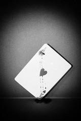 As de coeur (Mikkouz) Tags: bw white black blanco silver star blood flickr noir negro award coeur nb estrellas murder sang blanc carte meurtre efex bwartaward flickrestrellas lassac mikkouz