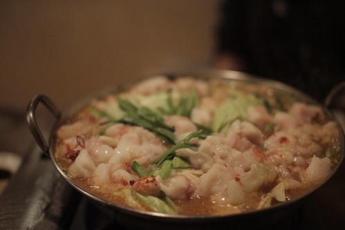 和牛ピリ辛モツ鍋 2