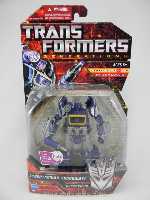 Transformers Cybertronian Soundwave Generations Deluxe - caja