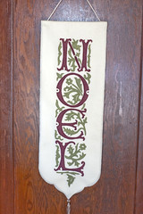 Noel banner made with ivory, sage green and burgundy felt applique (kizilod2) Tags: