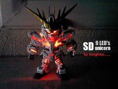 sd unicorn destroy mode with 9leds (tonghoo) Tags: sd gundam unicorn sdgundam sdunicorn