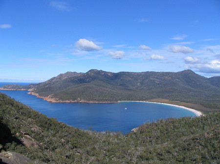 Wineglass Bay from vantage point