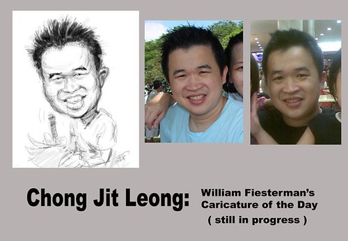 My caricature sketch by William Fiesterman
