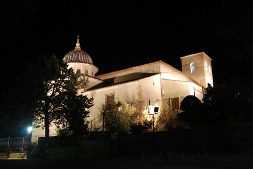 Santuario de la Encarnación de noche