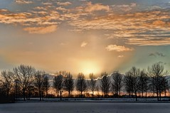 winter sky 5 (Wim Koopman) Tags: trees winter sunset sky lake snow holland netherlands dutch photography photo pond nikon day magic stock hour wintersky stockphoto stockphotography d90 goudriaan wpk