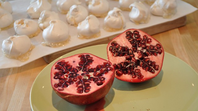 making Pomegranate Meringue Mountain as seen on Nigella Lawson's show-2