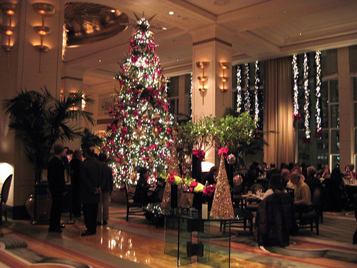 Peninsula Lobby at Christmas