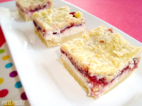 Raspberry Cream Cheese Streusel Bars