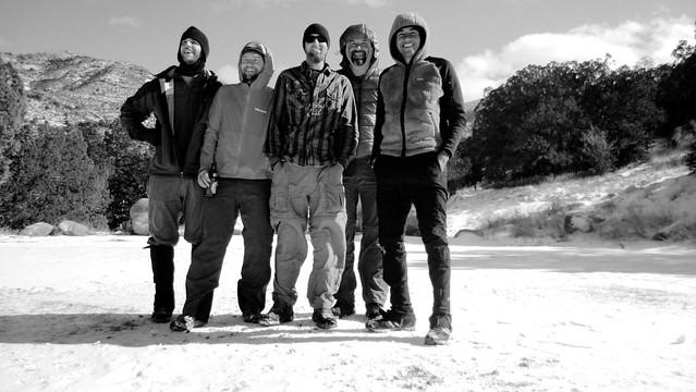 Group shot at Three Rivers Campground