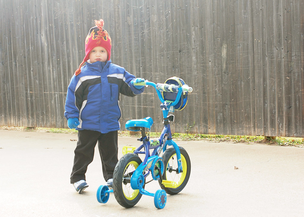 Jayden Christmas bike 2010