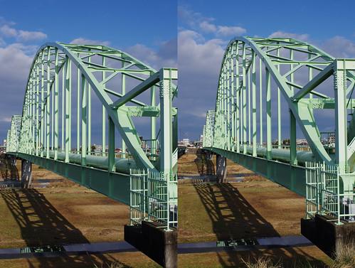 Aqueduct bridge, stereo parallel view