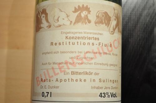 German hard liquor - bullenschluck