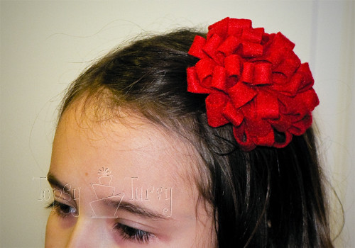 medium felt pom pom flower headband