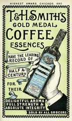 Vintage Victorian Advert for T & H Smith's Coffee Essence, Edinburgh, Scotland  1894 (CharmaineZoe) Tags: vintage advertising typography scotland ad 1800s victorian advertisement engraving advert