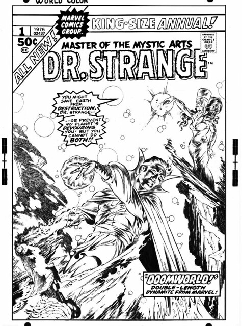 Dr Strange King-Size Annual 1 alternate cover by Craig Russell