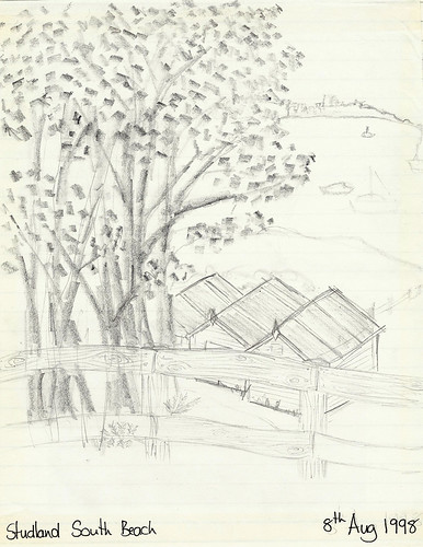 Studland South Beach Sketch - Copyright R.Weal 1998