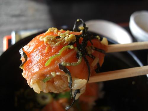海の家 サーモン丼