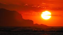Setting Sun, Kawhia (blue polaris) Tags: ocean sunset sea newzealand sun west beach landscape coast sand scenery wave nz waikato northisland tasman kawhia