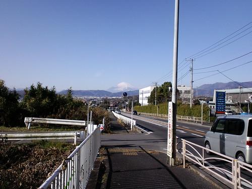 善波から見る富士山