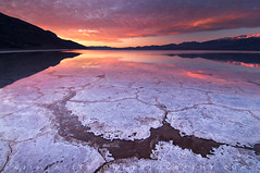 Dawn of a New Day - Badwater Basin, Death Valley National Park, California (Jim Patterson Photography) Tags: california sky usa mountains nature clouds sunrise reflections landscape dawn patterns salt dramatic basin badwater saltpan furnacecreek deathvalleynationalpark cotcmostinteresting inyocounty lakemanley visipix jimpattersonphotography jimpattersonphotographycom seatosummitworkshops seatosummitworkshopscom