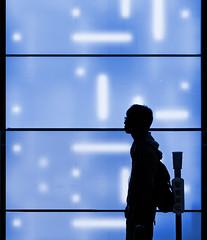The Return (yushimoto_02 [christian]) Tags: blue urban japan wall architecture night tokyo arquitectura loneliness shibuya illumination illuminated business architektur  nippon  lonely  fragment tokio tky colorphotoaward saariysqualitypictures