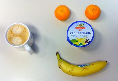 Banane, Bio-Vanillequark & Clementinen