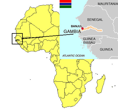 Gambia West Africa Map.Gambia Country Map