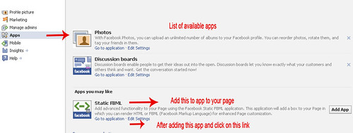 Coloring to facebook page by add custom tab   Anil Labs